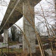 Die Sanierung des Rickenbacher Viadukts dauert noch bis ins Jahr 2020. (Bild: Hans Suter)