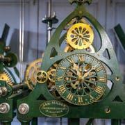 Das Uhrwerk im Kirchturm der reformierten... (Bild: Raphael Rohner)