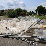 Auf dem Areal der Kantonalen Psychiatrischen Dienste Sektor Nord in Wil wurde ein Gewächshaus komplett zerstört, ein weitere stark beschädigt. Der Sachschaden ist immens.