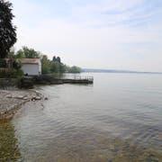 Die Konzession fürs Bootshaus am Rorschacherberger Seeufer wird nur noch für ein Jahr verlängert. Möglich ist ausserdem eine Wegführung hinter dem Bootshaus. (Bild: Jolanda Riedener, 17. Mai 2019)