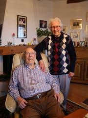 Otto und Alice Rüdt sind seit 73 Jahren ein Paar. (Bild: Jolanda Riedener)