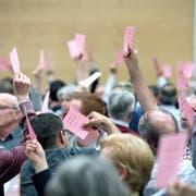 Die Delegierten der Luzerner CVP entschieden sich am 2. April in Hildisrieden für eine Stimmfreigabe zum zweiten Wahlgang der Regierungsratswahlen vom 19. Mai. (Bild: Pius Amrein)