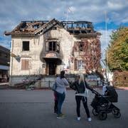 Beim Brand in der Nacht auf Sonntag verloren zwei Personen ihr Leben. (Bild: Benjamin Manser)