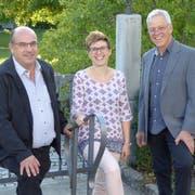Die drei Kirchgemeindepräsidenten Rolf Zimmermann, Angelika Schweizer und Hans Bodenmann. (Bild: PD)