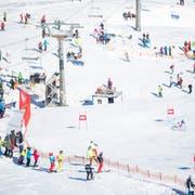 So wird es 2021 im Hoch-Ybrig nicht aussehen: Slalom der Damen an der Ski-Schweizer-Meisterschaft. (Bild: Keystone/Urs Flüeler, Hoch-Ybrig, 23. März 2019)