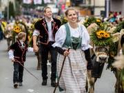 Blumenschmuck und Trachten sind Pflicht (Bild: Nadia Schärli (Schüpfheim, 29.September 2018))