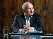Heinz Bossert (63) im Sitzungszimmer des Hauses an der Burgerstrasse 17 in der Stadt Luzern, das dem kantonalen Detaillistenverband gehört. (Bild: Pius Amrein, 28. Mai 2019)