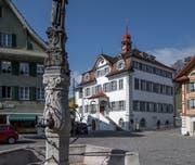 Das Rathaus von Sarnen. (Bild: Pius Amrein, 28. März 2019)