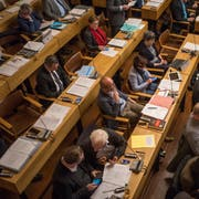 Blick in den Saal des St.Galler Stadtparlaments im Waaghaus. Hier tagt die städtische Legislative im Schnitt einmal monatlich. (Bild: Benjamin Manser - 16. Januar 2018)