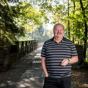 Gemeinderatskandidat Felix Müri an einem ihm wichtigen Platz, am Reussufer.Fotografiert am 10. September 2018 in Luzern.Nadia Schärli Luzernerzeitung