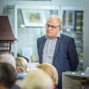 Karl Spiess referiert über 100 Jahre REA im Ortsmuseum Amriswil. (Bild: Andrea Stalder)