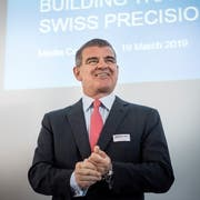 Hat gut lachen: Stadler-Inhaber und Verwaltungsratspräsident Peter Spuhler. (Bild: Andrea Stalder (Bussnang, 19. März 2019))