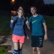 Nehmen am Sonntag den nächsten Halbmarathon in Angriff: Die Amerikanerin Amy Hess und der Nidwaldner Thomas Niederberger. (Bild: Nadia Schärli (St. Niklausen, 22. Oktober 2018))