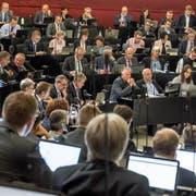 Kantonsräte der CVP, SVP, FDP, SP und Grünen bei der Budgetdebatte vom Montag. (Bild: Nadia Schärli, Luzern, 22. Oktober 2018)