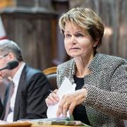 CVP-Ständerätin Brigitte Haeberli könnte ab der kommenden Legislatur die einzige Frau im Stöckli sein. (Bild: KEYSTONE/Anthony Anex)