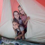 Bald werden wieder die Zelte gepackt. (Bild: Pius Amrein, Uffikon 11. Juli 2017)