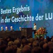 An der letztjährigen GV in der Messehalle war bereits die Rede von einem Rekordergebnis. (Bild: Pius Amrein (Luzern, 16. April 2018))