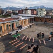 Das Asylzentrum Grosshof in Kriens. (Bild: Nadia Schärli (24. November 2017))