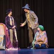 Das Ensemble des Theaters Paprika bei der Hauptprobe zum neuen Stück «De Räuber Hotzenplotz».Bild: Boris Bürgisser (Kriens, 27. März 2019)