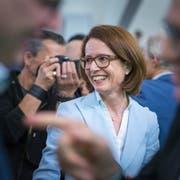 Susanne Vincenz-Stauffacher am Sonntag, 19. Mai im St.Galler Pfalzkeller. (Bild: Michel Canonica)