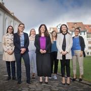 Sieben Frauen, sieben Ansichten: Anna Bleichenbacher, Franziska Ryser, Salome Zeintl, Nadine Niederhauser, Andrea Oertle, Manuela Ronzani, Sarah Bünter (v.l.). (Bild: Benjamin Manser, 11. Juni 2019)