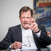 Schindler-CEO Thomas Oetterli. (Bild: Roger Grütter, Ebikon, 26. Oktober 2016)
