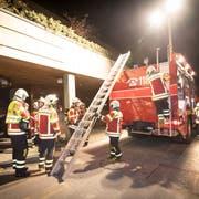 Die Feuerwehr Wittenbach-Häggenschwil bei einer Übung im vergangenen Jahr. (Bild: Ralph Ribi (26. Oktober 2018))