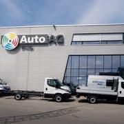 Das Gebäude der Auto AG Group in Rothenburg. (Bild: Nadia Schärli, Rothenburg, 16. April 2019)