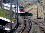 Die Bahnstrecke der SBB bei Walchwil. Bild: Stefan Kaiser