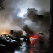 Es brannte an der Cheerstrasse in Littau. (Bild: Feuerwehr Stadt Luzern)
