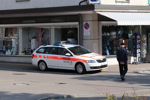 Die Polizei war auch anwesend, musste aber nicht einschreiten.