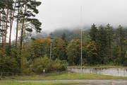 Hier soll die neue 25 Meter hohe Mobilfunkanlage der Swisscom zu stehen kommen. (Bild: Markus Zwyssig, Bürglen, 22. Oktober 2019)