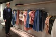 Lukas Weber in der neuen Mode-Weber-Boutique an der Multergasse. (Bild: Aliena Trefny - 25. Februar 2019)