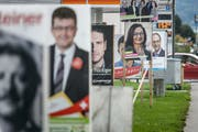 Schon bald werden die Parteien wieder mit Plakaten werben. (Bild: Michel Canonica, 24. September 2015)