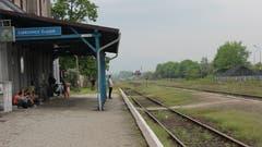 Der Bahnhof von Ząbkowice Śląskie, dem ehemaligen Frankenstein.