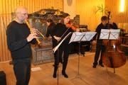 Das Ensemble: Markus Meier, Heidi Preisig, Darina Spinnler, und Heltin Guraziu (von links). (Bild: Peter Küpfer)