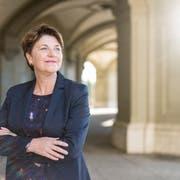 Viola Amherd stellt sich zur Wahl.Bild: Alessandro Della Valle/Keystone (Bern, 12. Oktober 2018)