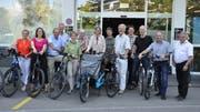 Das Thurgauer Komitee wirbt für ein Ja zum Bundesbeschluss über die Velowege sowie über die Fuss- und Wanderwege. Die nationale Vorlage gelangt am 23. September zur Abstimmung. (Bild: Sebastian Keller)