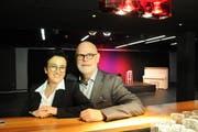 Das Hotelierspaar Klara und Josef Inderbitzin im Kulturraum «Freeheit» im Hotel Krone. (Bild: Philipp Unterschütz, Sarnen, 6. Dezember 2018)