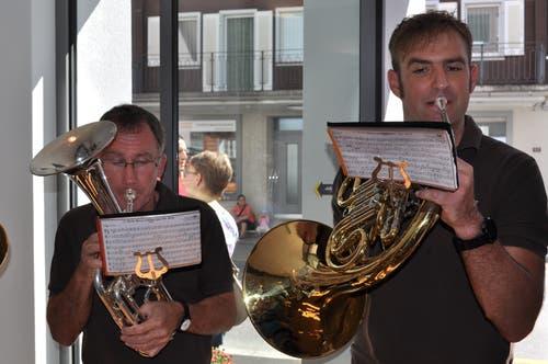 Die Bläsergruppe Lungern unterhielt die Gäste musikalisch.