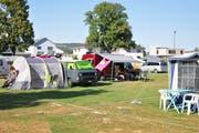 Gut ausgerüstet leben einige Lehrpersonen während den Kursen auf dem Campingplatz. (Bild: Sabrina Bächi)