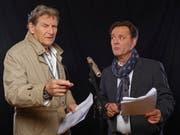 Zwei unverkennbare Stimmen, die Säle füllen: Michael Schacht, Sprecher von Philip Maloney, und Heinz Margot.