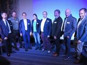 Die Teilnehmer (von links): Philipp Hartmann, Pierre-André Weber, Heinrich Leuthard, Alessandra Keller, Toni Mathis, Res Schmid, Prof. Lukas Zahner und Moderator Christian Graf.