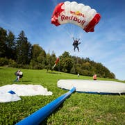 Die Springer absolvierten bei der Sonnmatt ihr letztes Training vor dem nächsten Wettkampf. Bild: Jakob Ineichen (Luzern, 26. September 2018)