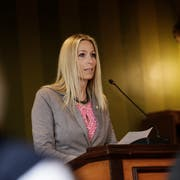 SVP-Kantonsrätin Petra Kuhn aus Weinfelden setzt sich für eine Redezeitbeschränkung im Grossen Rat ein. (Bild: Donato Caspari)