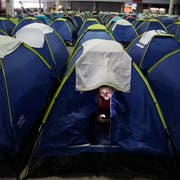 Auch auf dem Camping des Technologiefestivals Campus Party ruft die Community. (Bild: Andre Penner/Keystone, São Paulo, 12. Februar 2019)