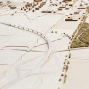 Ein Modell zeigt, wie das Viadukt dereinst aussehen könnte. (Bild: Donato Caspari)