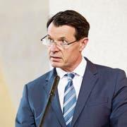 Raiffeisen-Schweiz-Verwaltungsratspräsident Guy Lachappelle. (Bild: Donato Caspari, Bichelsee, 27. April 2019)