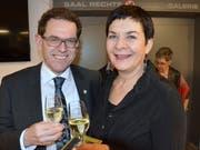 Regierungsrat Jakob Stark mit Gattin Coni.