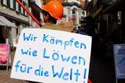 Der Thurgauer Slogan von Florian Müller (37) aus Berg. (Bild: Rahel Haag)